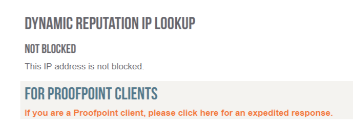 This IP address is not blocked.