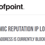 This IP address is currently blocked.